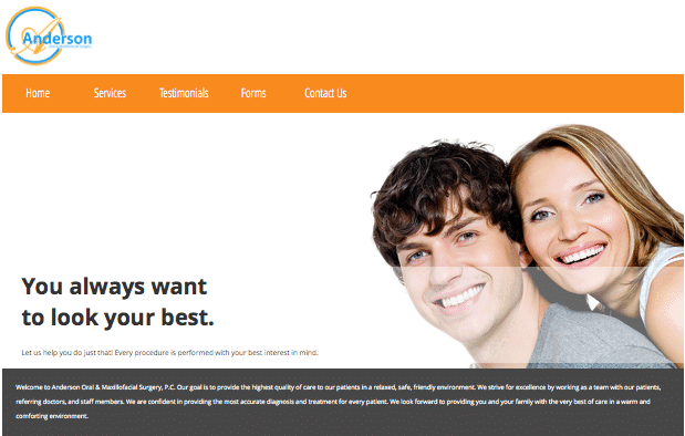 Anderson Oral Surgery Website