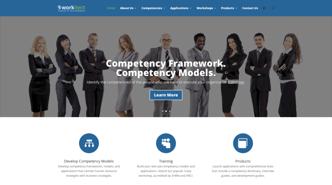 Workitect web design redone