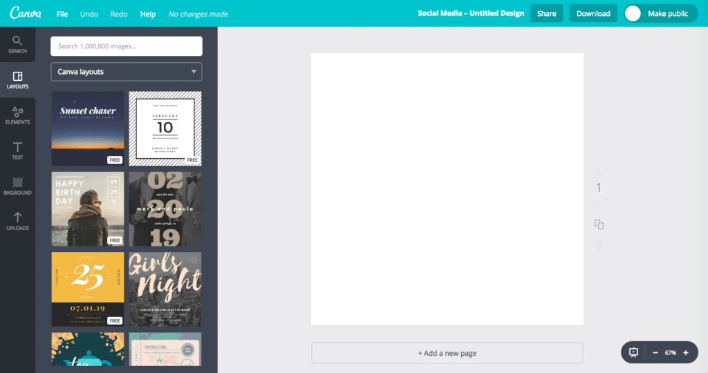 Canva is a tool for creating social media images