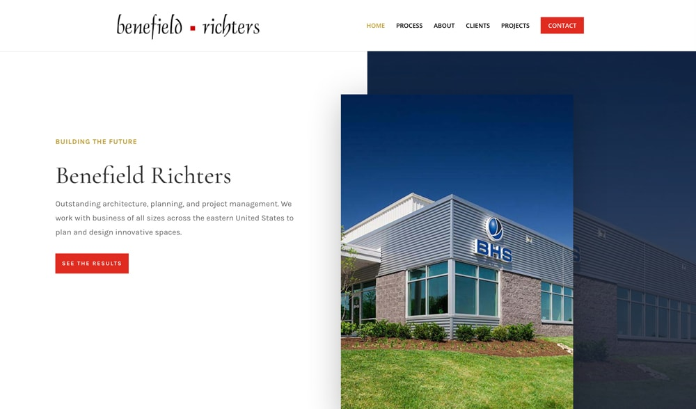 Benefield Richters Website Design