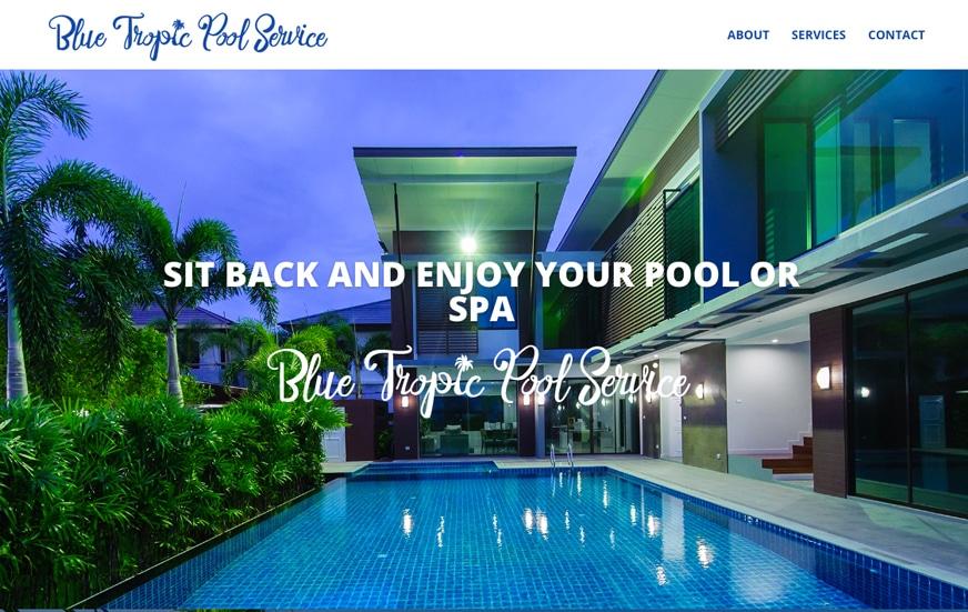 Blue Tropic Pool Service Website in Port Orange Florida
