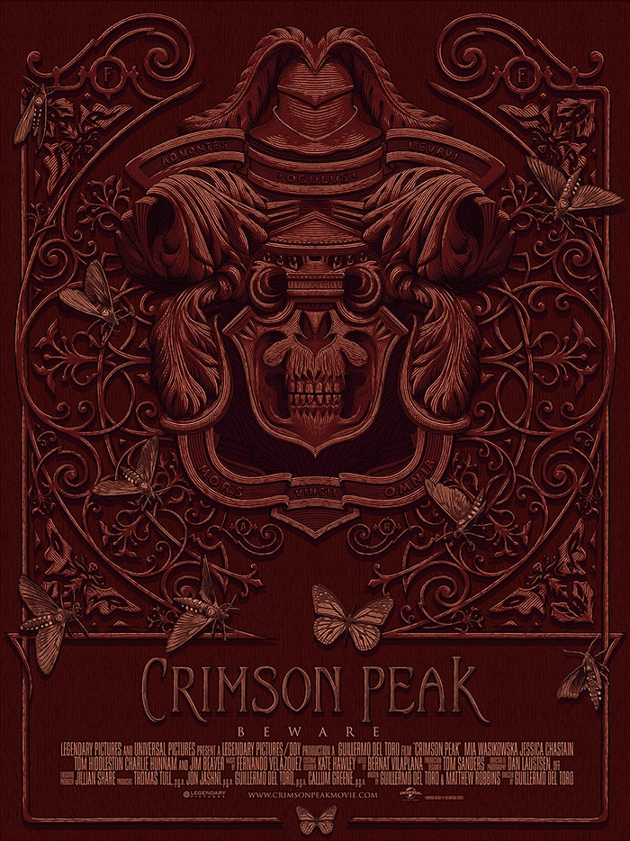 crimson linework - Brilliant Poster Designs