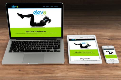 Elev8 Fitness Website Design