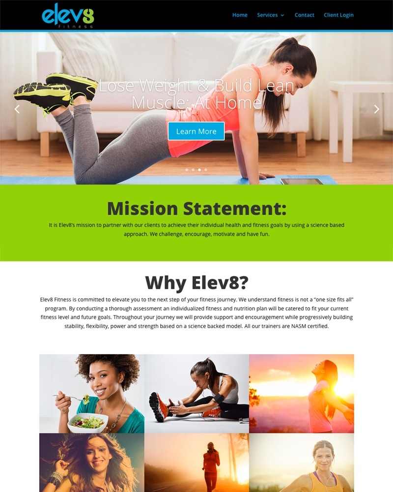 website design: Knoxville fitness training