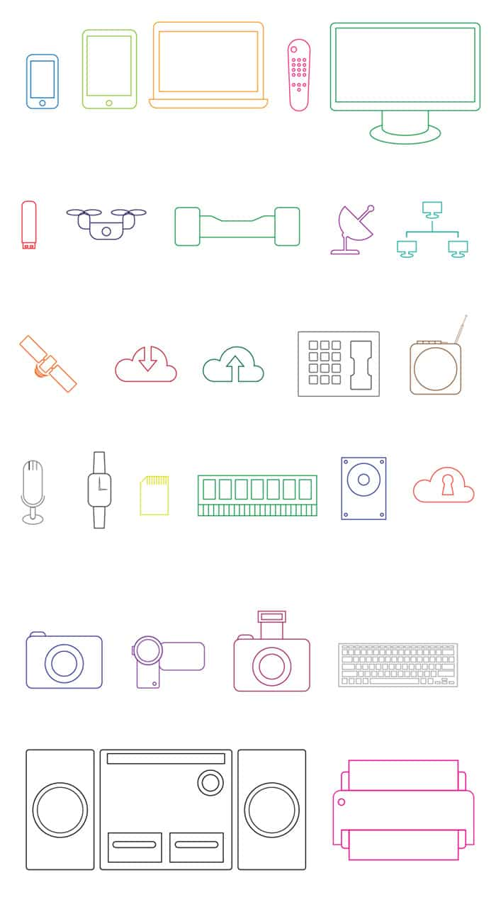 free vector technology icons to download