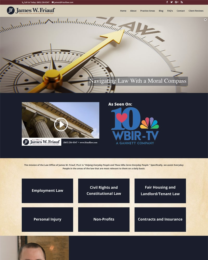 Knoxville lawyer website design
