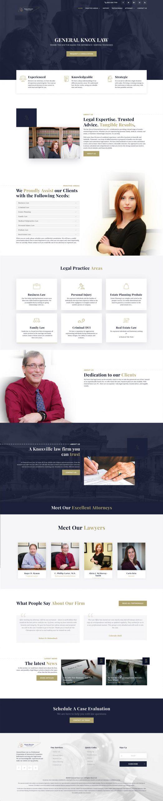 general Knox Law website