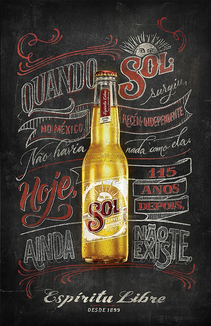 handmade Sol Beer Poster - Brilliant Poster Designs