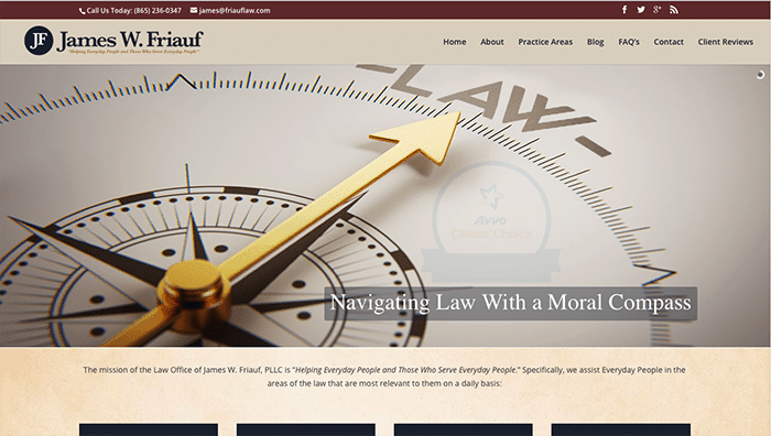 james-friauf lawyer website
