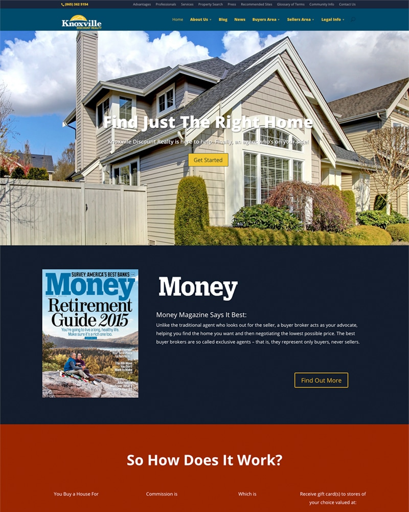 web design: Knoxville real estate