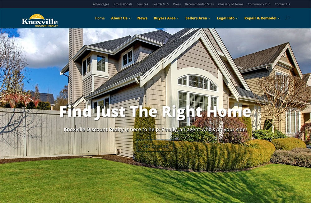 Real Estate Website Design: Knoxville Discount Realty