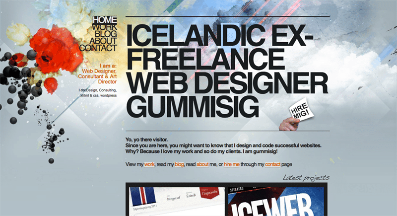 large typography - Modern web design elements