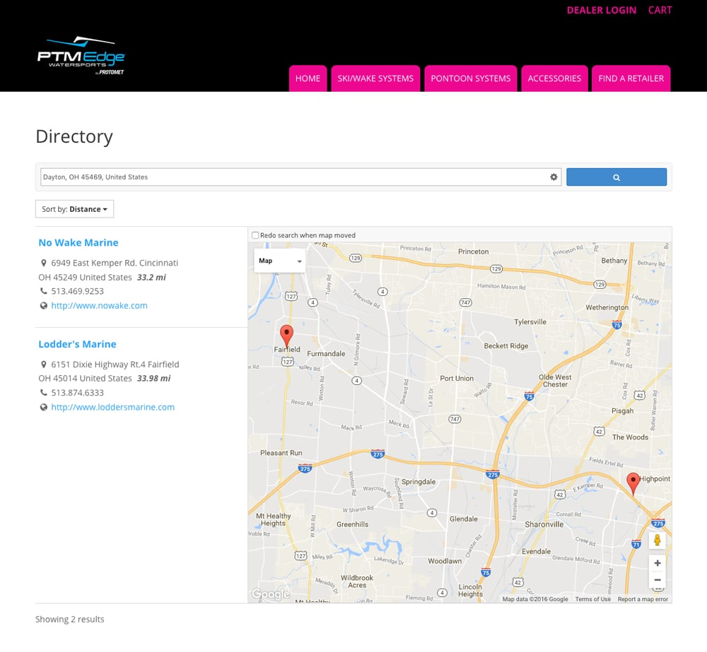 PTM Edge Dealer Directory