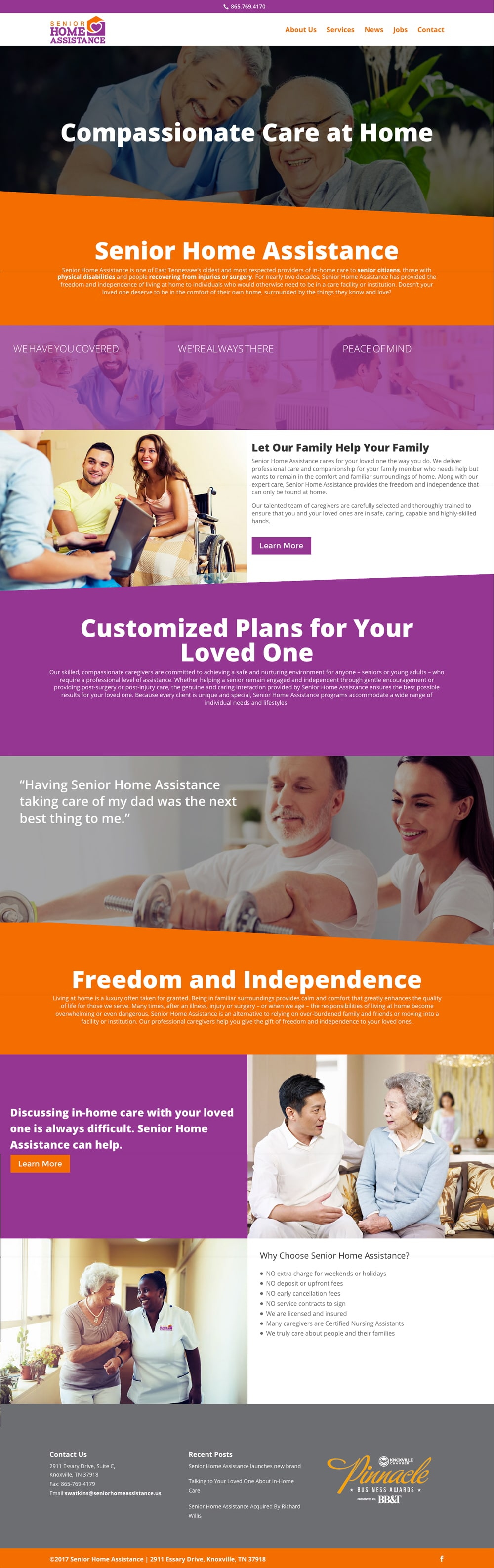 Senior Home Assistance Website Project - Knoxville TN