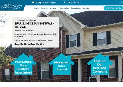 Sparkling Clean Softwash Website