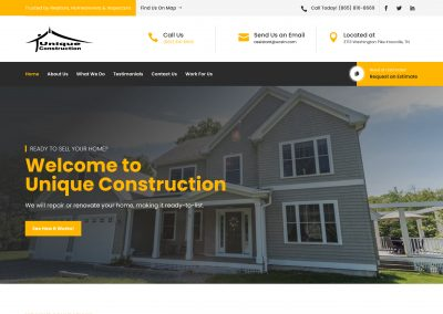 Unique Construction Company Website Design