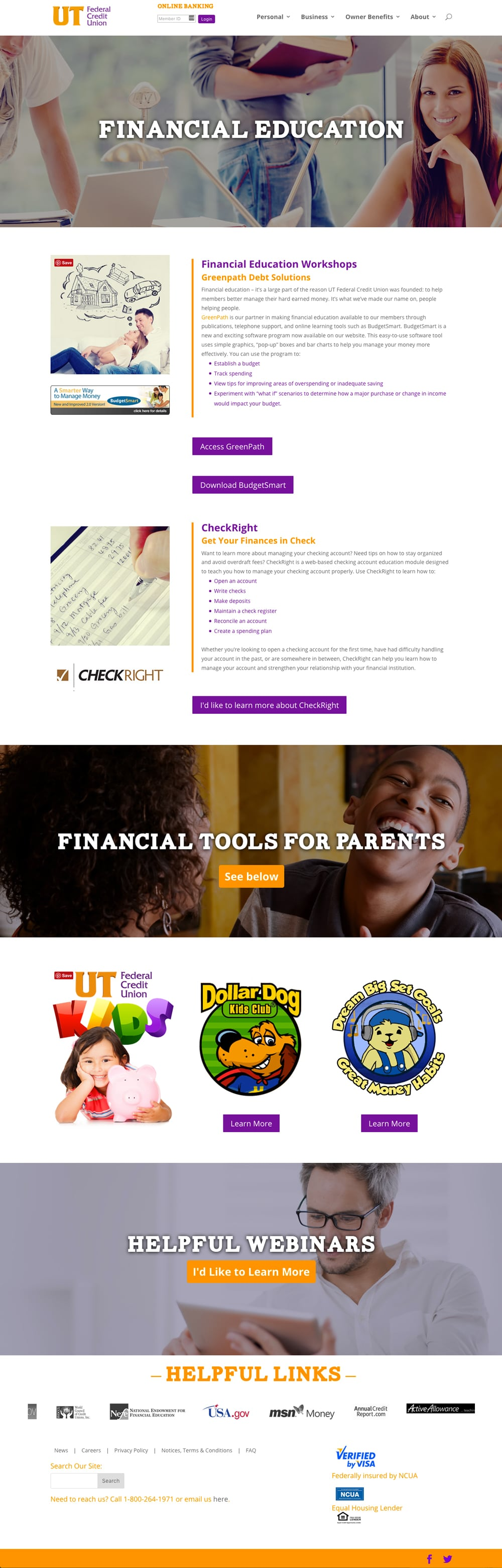 UT Federal Credit Union Financial Education Page
