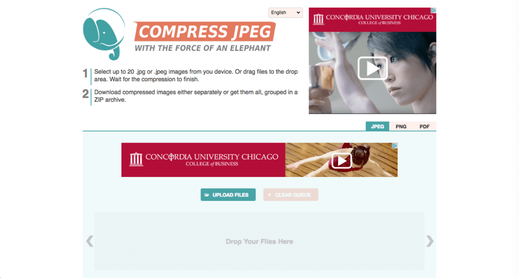 image compression for fast web pages